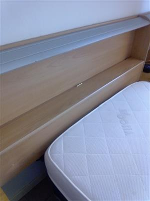 HEADBOARD WITH 2 PEDESTALS AND LONG DRAW FOR SALE R500
