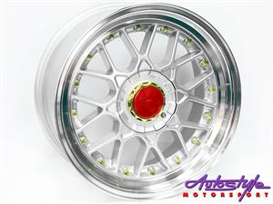 17 inch BSS GL 5 100 silver Alloy Wheels.