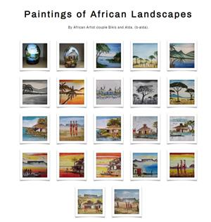Landscape paintings by Bikis and Alda for Sale or Commissioned