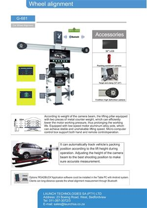 3D Wheel Alignment Machines - Launch Technologies