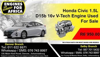 Honda Civic 1.5L D15b 16v V-Tech Engine Used For Sale