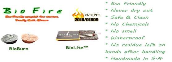 Eco Friendly BioFire firelighters for sale