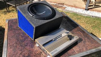 Pioneer Subwoofer and AudioBank Pro Amp