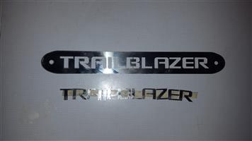 Trailblazer cutout logos and letterings