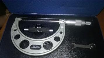 Oxford 75 - 100mm 0.01mm micrometer