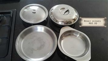 Silver braai dishes for sale