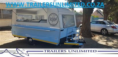 THE SCOOP CATERING CARAVAN. CUSTOM BUILD TO YOUR NEEDS.