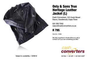 Only & Sons True Heritage Leather Jacket (L)