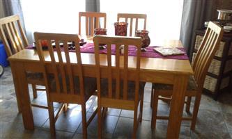 American oak dinning room