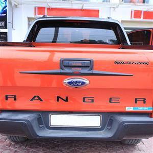 Ford Ranger Tailgate Trim Cover with Ranger Logo - Gloss Black