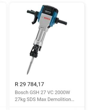 Bosch, demolition hammer/breaker Once in a lifetime deal!!!