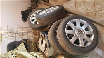 VW tyres with mags