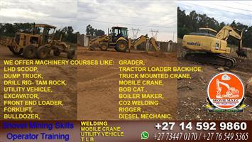 Germiston training school center for excavator forklift and tlb Shovel Multi Skills Training Centre +27765495365 +27734470170