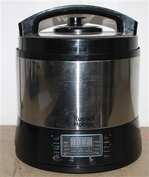 Russell hobbs Silver and Black pressure cooker S032664A #Rosettenvillepawnshop