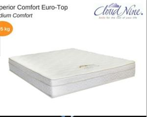 2 MONTHS OLD CLOUD NINE MATTRESS AS NEW & STILL IN IMMACULATE CONDITION!