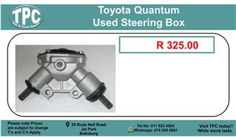 Toyota Quantum Used steering Box For Sale.