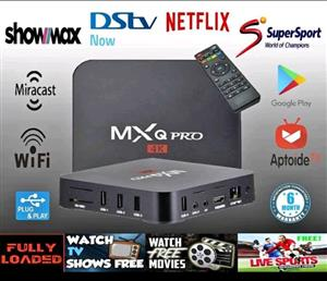 MXQ 4K PRO SMART TV BOX APP  EVERY CHANNEL IN THE WORLD PLUS MAKE