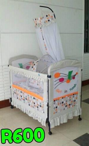 WHITE SPOTTED COT FOR SALE