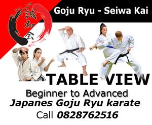 Goju Ryu Japanese Karate Tableview