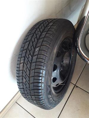 1 Brand New Goodyear Tyre And Rim