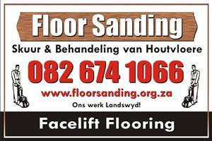Wooden floors, sanding and sealing