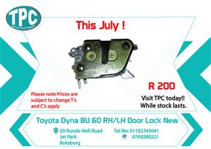 Toyota Dyna BU 60 RH/LH Door Lock New for Sale at TPC