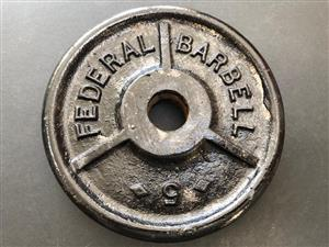 Looking for old school Federal Barbell weight plates in the Durban area.