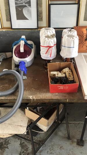 Vacuum,lamps and plugs for sale