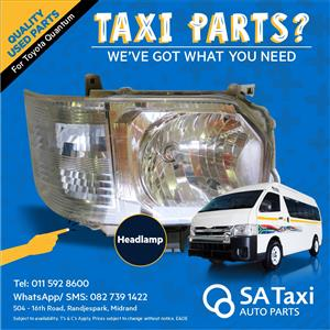 Headlamp suitable for Toyota Quantum - SA Taxi Auto Parts quality used spares