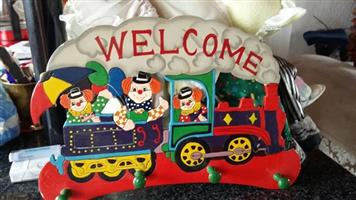 Welcome train sign for sale