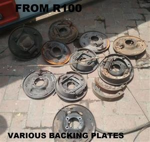 VARIOUS BACKING PLATES FROM R 100.00