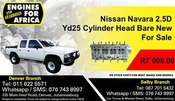 Nissan Navara 2.5D Yd25 Cylinder Head Bare New For Sale