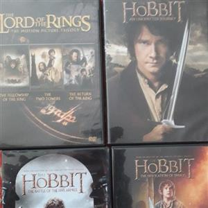 The Lord of the Rings & The Hobbit full set DVDs