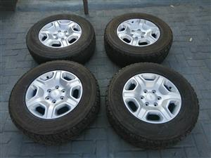 "Ford Ranger 17 ""Rims with Bridgestone A /T Tyres For Sale"