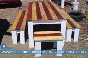 SOLID,STRONG WOODEN BENCHES,CHAIRS,STOOLS  ETC.