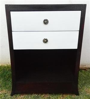 Cabinet with two drawers and open shelf