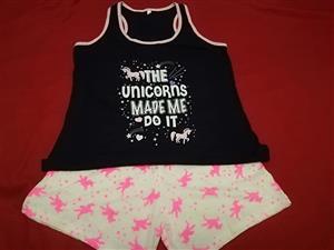 Pink unicorns made me do it pj set