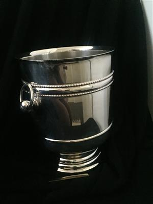 Christofle Silver Plated Ice Bucket.  Style:  Malmaison