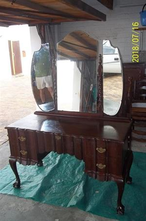 Imbuia Ball & Claw Dressing Table.