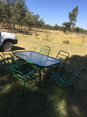 Six seater patio set