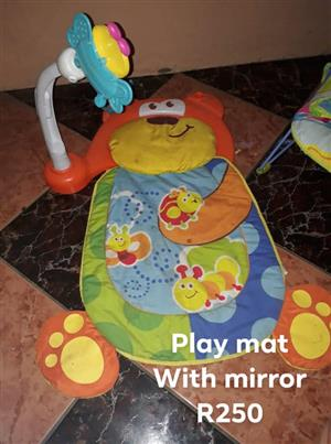 Playmat with mirror