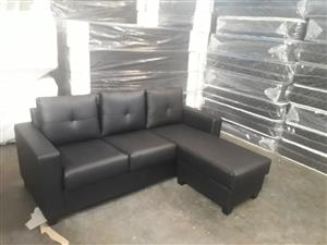 Leather 3 seater daybed