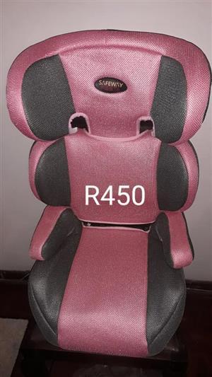 Pink safeway car seat for sale