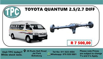 Toyota Quantum 2.5 D4D 14 Seater Diff - For Sale at TPC.