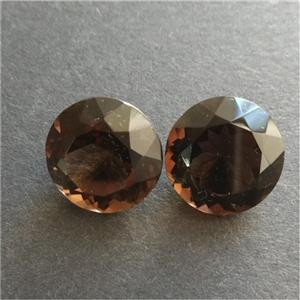 Natural Smokey Quarts Faceted Gem Stone set Ideal for Earrings
