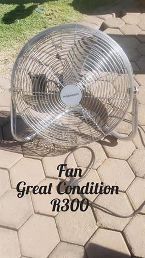 Steel desk fan