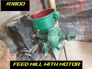 FEED MILL WITH ELECTRIC MOTOR