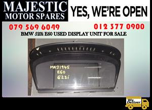 Bmw E60 523i used display unit for sale