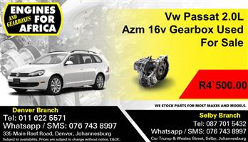 Vw Passat 2.0L Azm 16v Gearbox Used For Sale