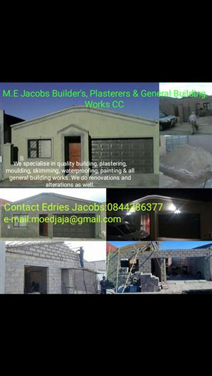 M.E Jacobs Builders, Plasterers and General Building Works CC